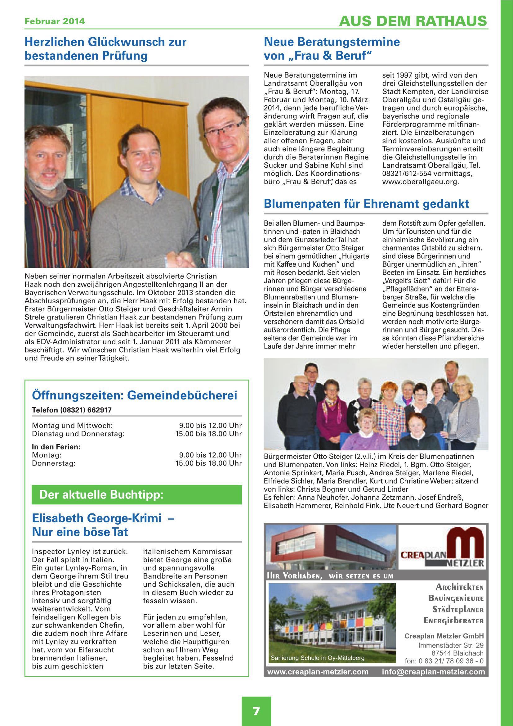 Mitteilungsblatt Februar 2014