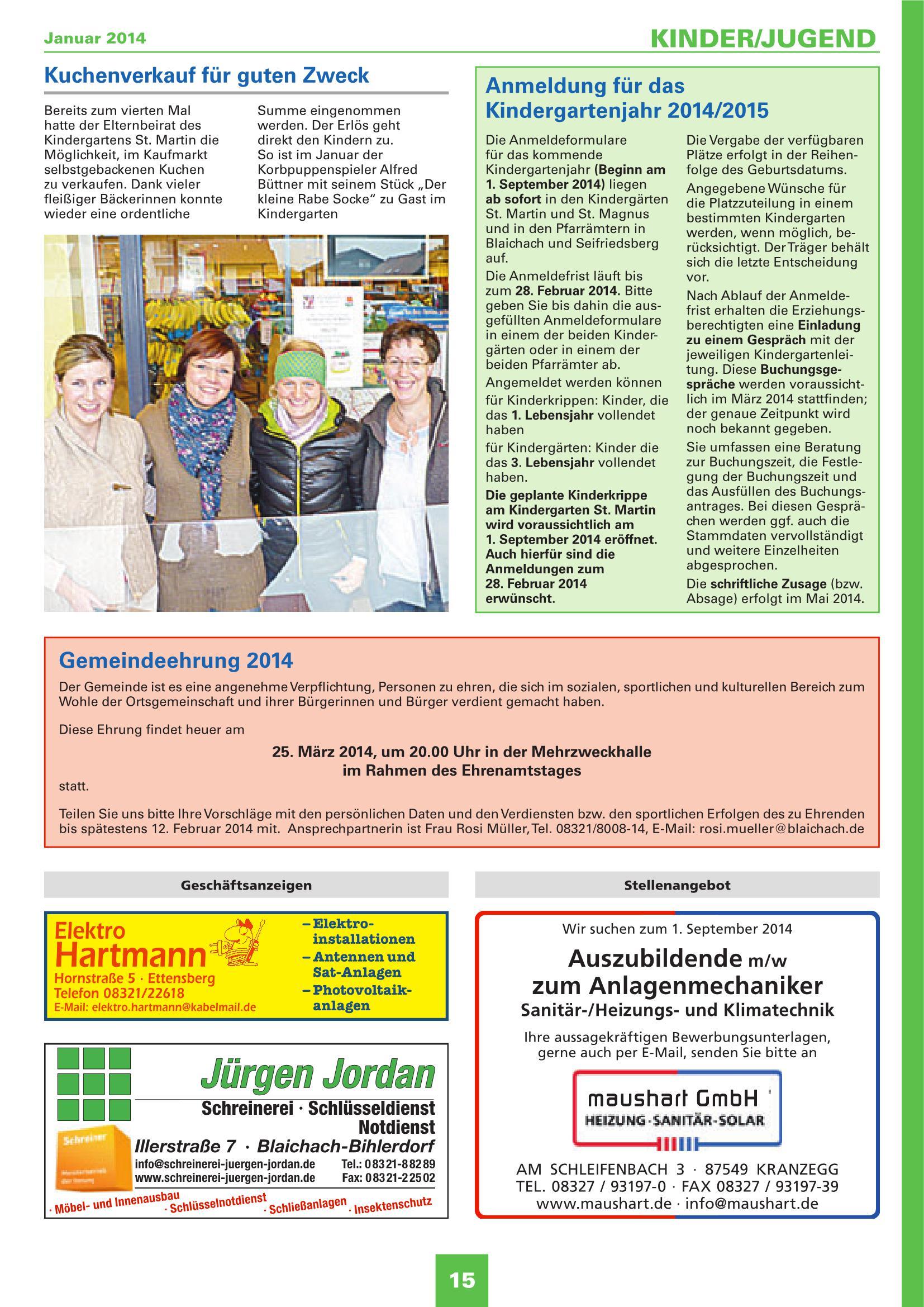 Mitteilungsblatt Januar 2014