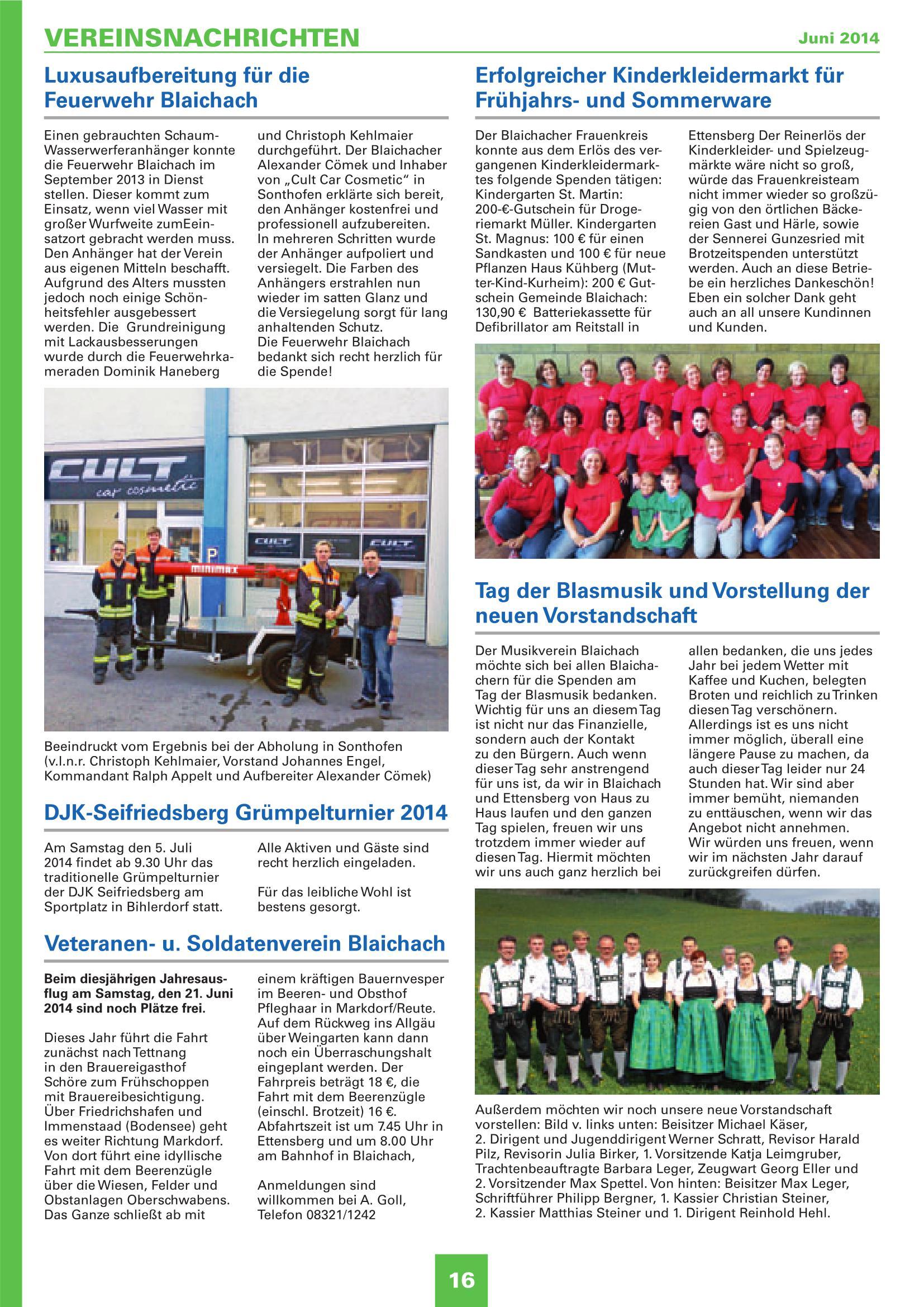 Mitteilungsblatt Juni 2014
