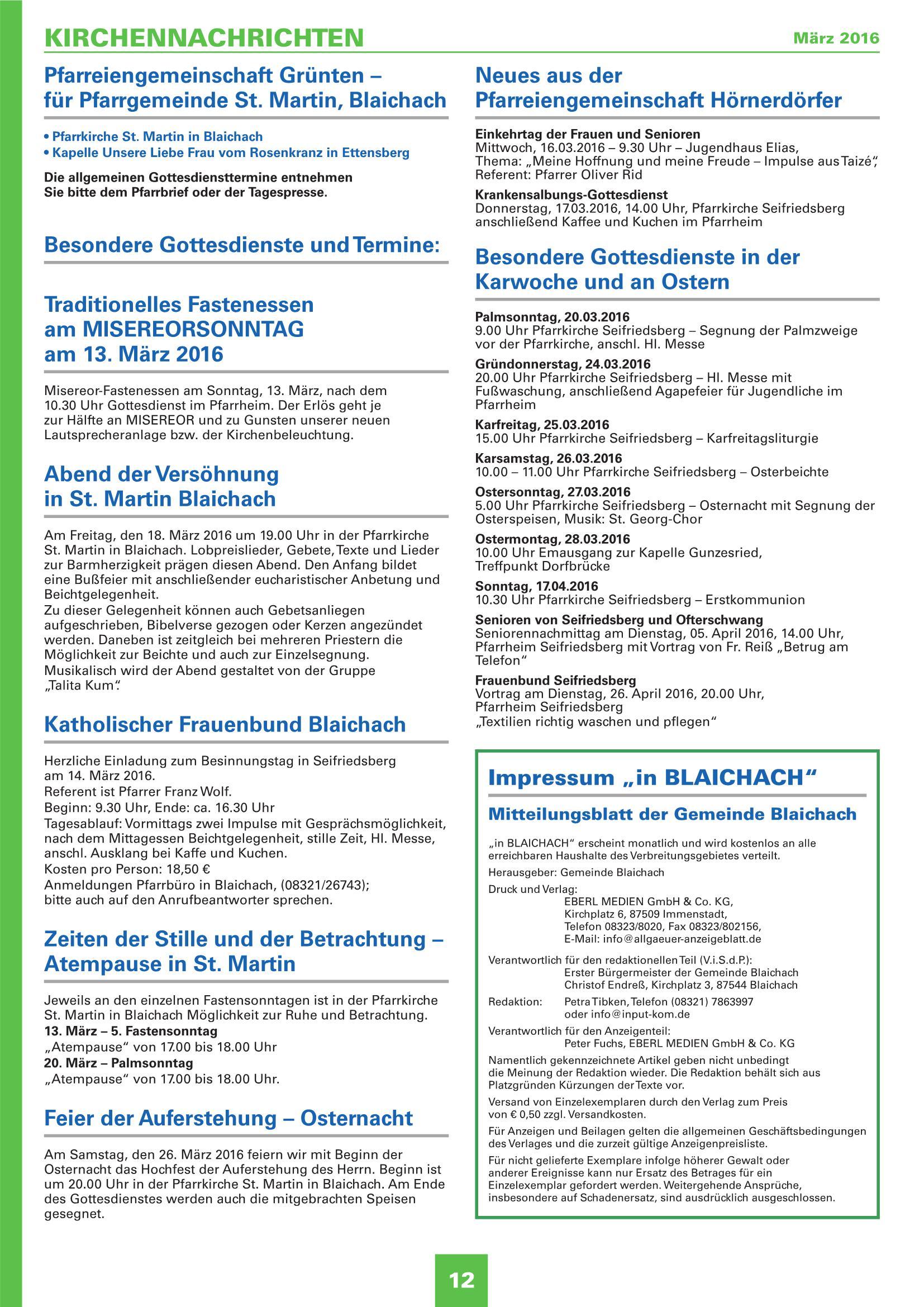Mitteilungsblatt Marz 2016
