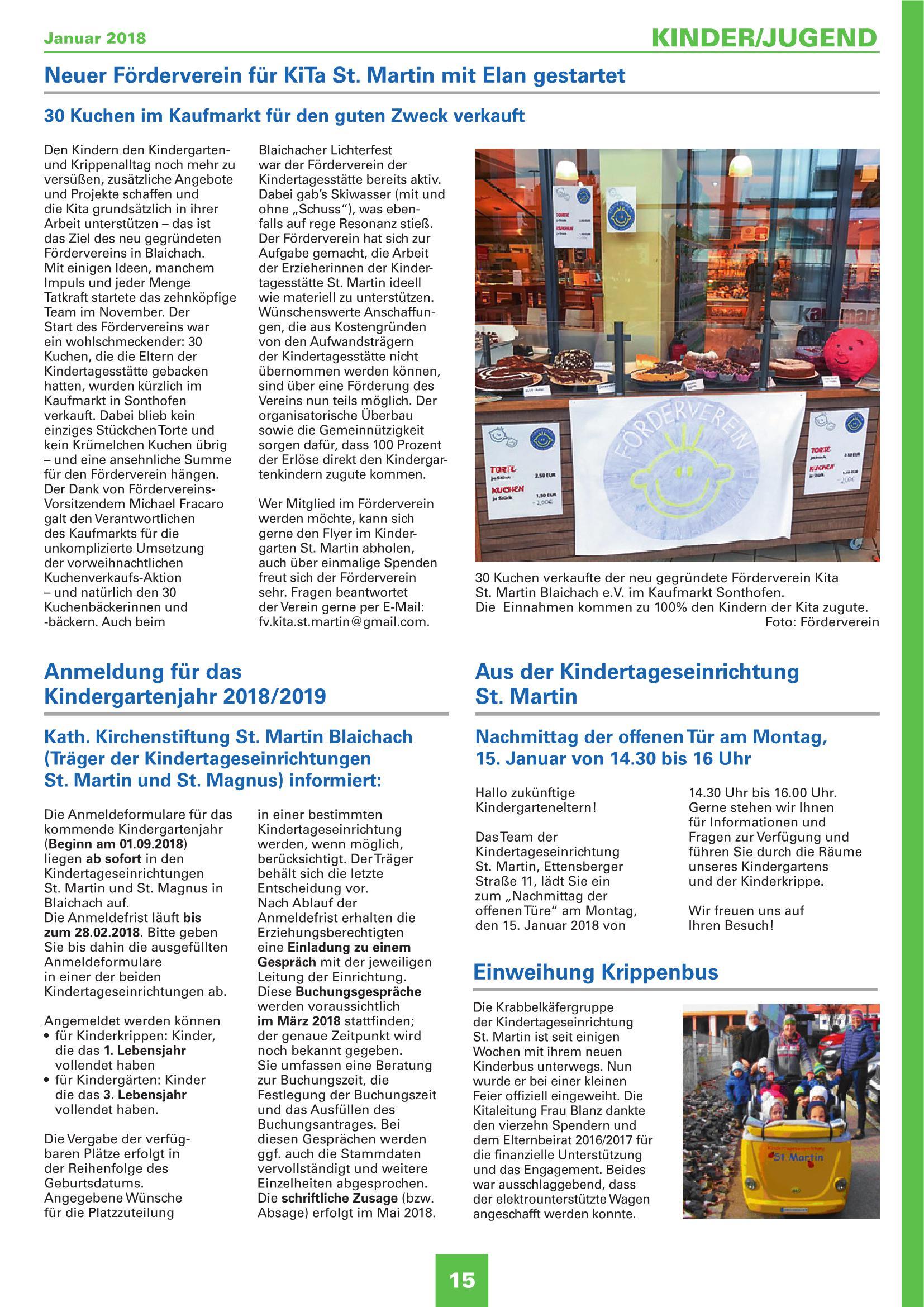 Mitteilungsblatt Januar 2018