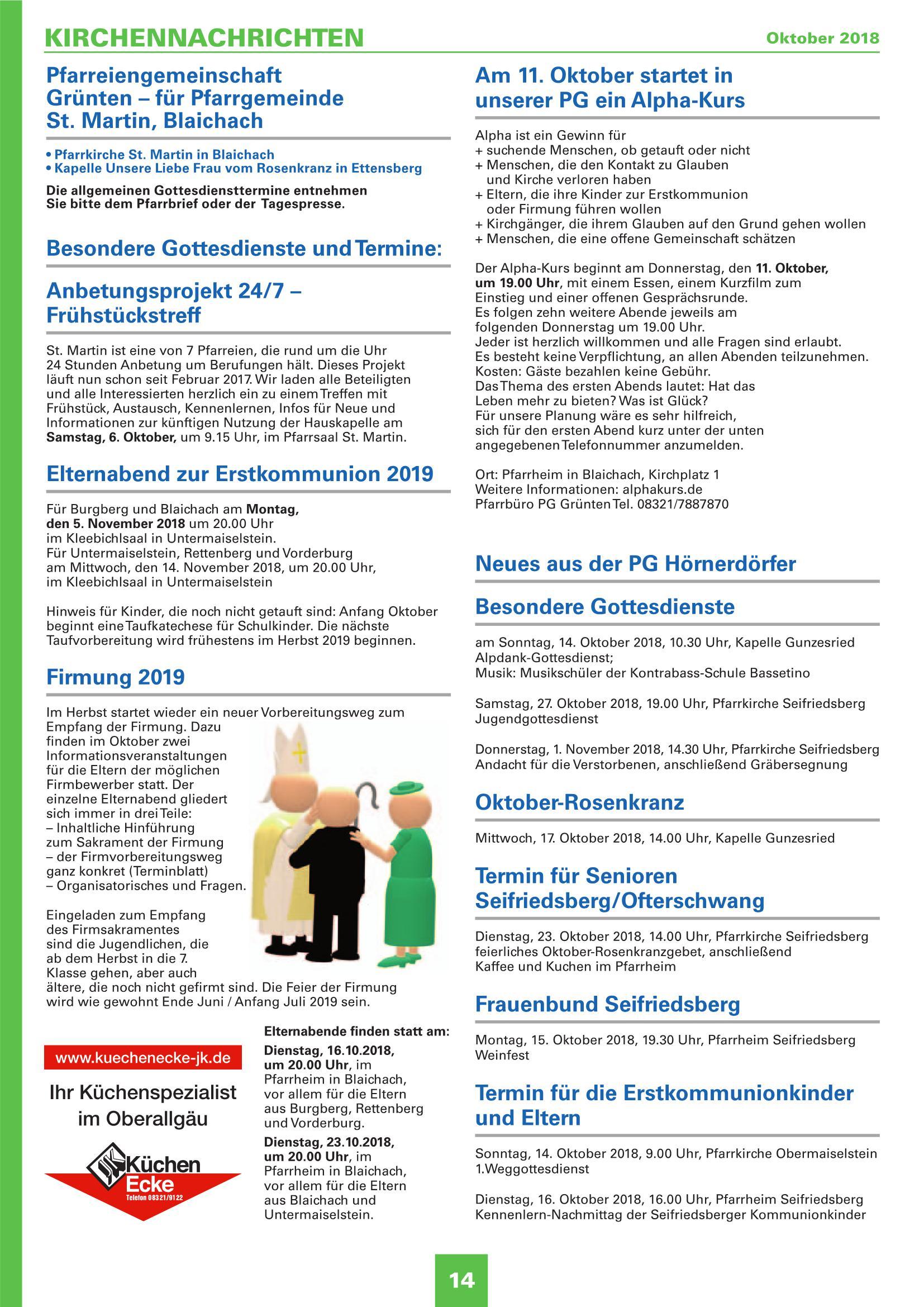Mitteilungsblatt Oktober 2018