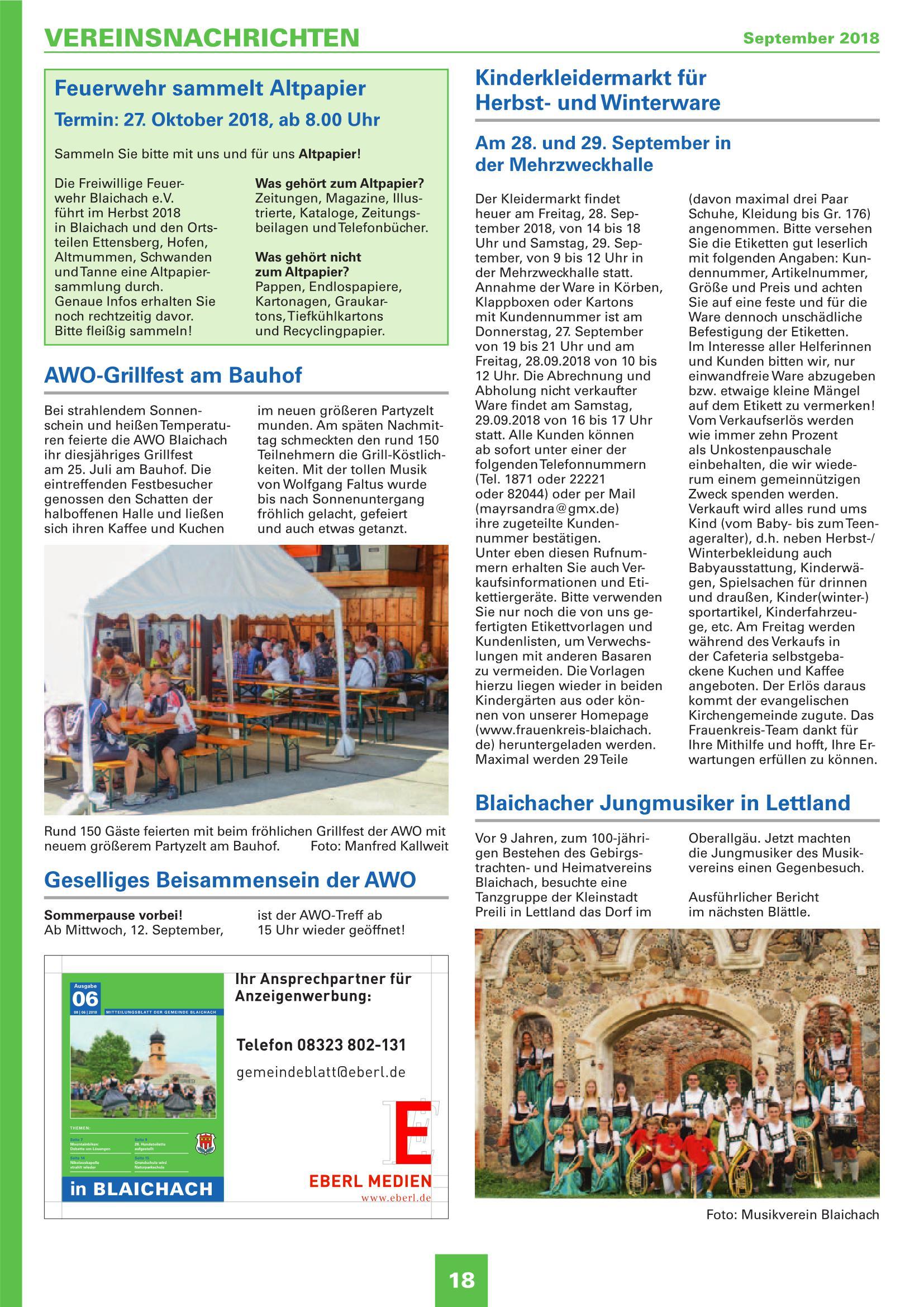 Mitteilungsblatt September 2018